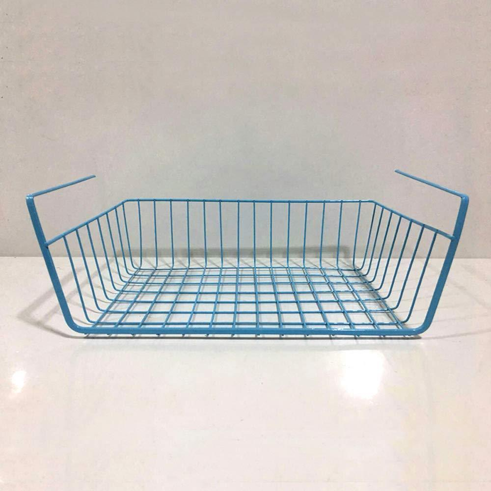 ESUPPORT Under Shelf Storage Basket Hanging Under Cabinet Wire Basket Organizer Rack Dormitory Bedside Corner Shelves for Kitchen Pantry Desk Bookshelf Cupboard