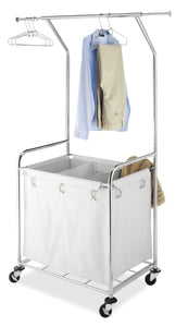 Select nice whitmor commercial rolling laundry center with removable liner and heavy duty wheels