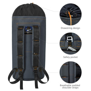 Budget zero jet lag 70 l extra large laundry bag heavy duty backpack with straps pockets hanging laundry hamper college essentials storage basket storage bag dorm homedark grey xl