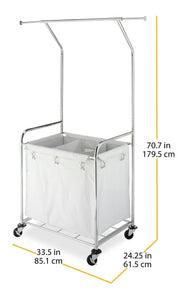 Selection whitmor commercial rolling laundry center with removable liner and heavy duty wheels
