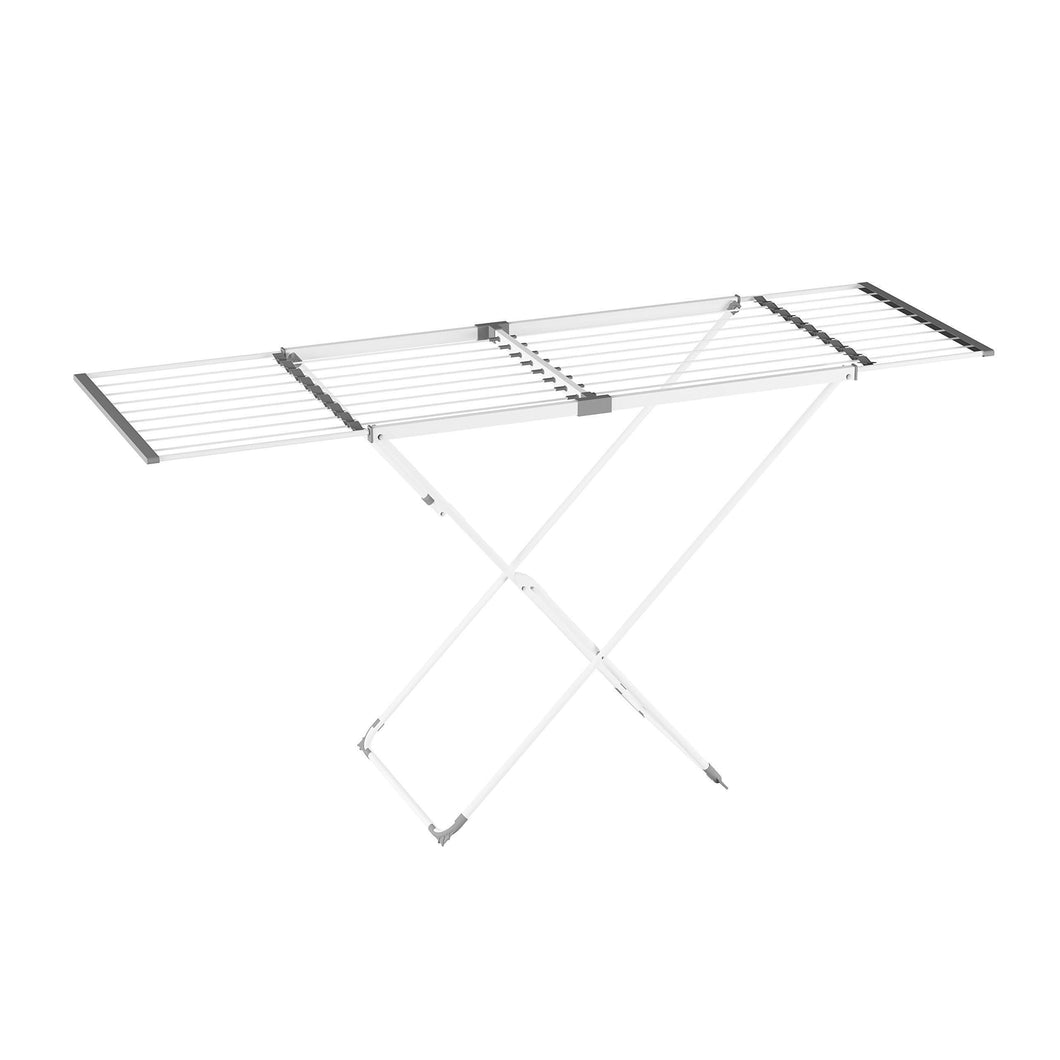 Storage lavish home extendable clothes drying rack telescoping laundry sorter with rust resistant metal x frame for folding and hanging garments