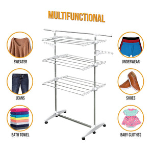 Best stainless drying clothes rack portable rolling drying rack for laundry baby clothes drying hangers rack stainless drying racks for laundry 3 tier drying racks for laundry by kp solutions