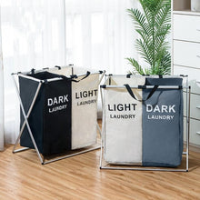 Load image into Gallery viewer, Laundry Sorter Hamper - Divided Laundry Basket Light and Dark Clothes