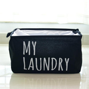 Waterproof Square Cotton Laundry Basket Organizer Washing Clothes Storage Bag Basket Storage Organizador UIE703