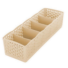 Load image into Gallery viewer, 5 Grids Wardrobe Storage Box Basket Organizer