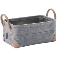 Load image into Gallery viewer, Lubin Square Bath Storage Bin, Basket Organizer for Towels, Magazines, Toys