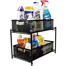 Load image into Gallery viewer, 2-Tier Mesh Organizer Baskets with Sliding Drawers
