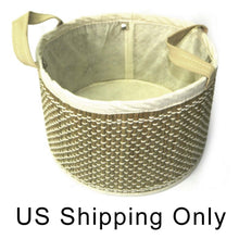 Load image into Gallery viewer, Cocoboo Seagrass Storage Basket Organizer | Eco Friendly Vegan | Kitchen Bedroom Living Room