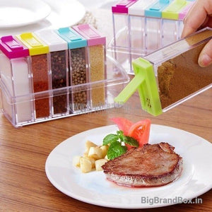 6 pcs Transparent Acrylic Condiment & Spices Box