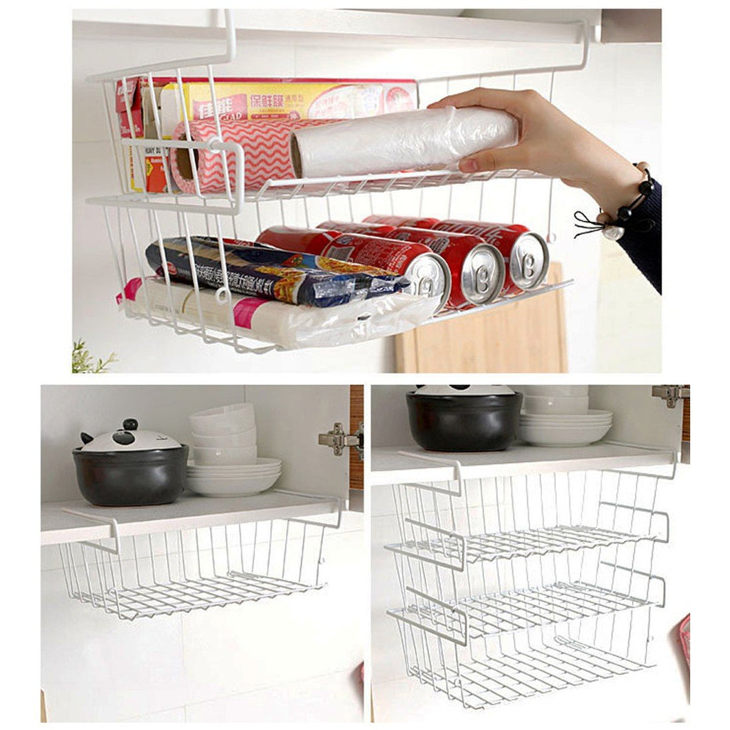 Multifunction Layered Under Shelf Basket Cabinet Storage