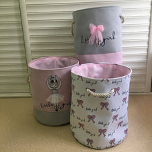 Load image into Gallery viewer, Pink Laundry Basket Organizer