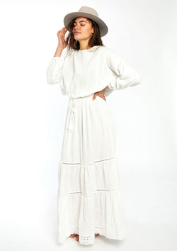 Bowie Long Ruffle Dress