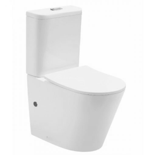 Easiest toilet to clean - The Viano Back to Wall Toilet with seamless finish, rimless design and nano-glazing