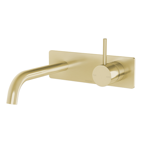 Phoenix Vivid Slimline Up Wall Basin / Bath Mixer Set | Brushed Gold |