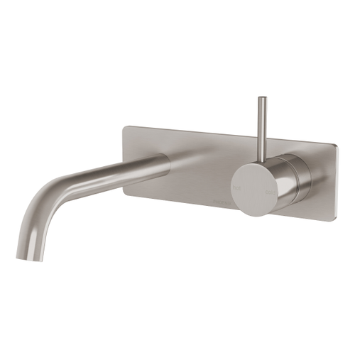 Phoenix Vivid Slimline Up Wall Basin / Bath Mixer Set | Brushed Nickel |