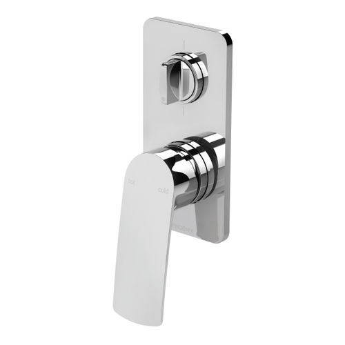 Phoenix Mekko Wall Shower / Bath Diverter Mixer | Chrome |