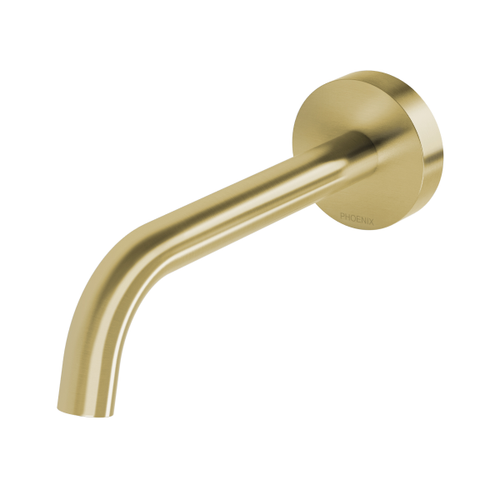 Phoenix Vivid Slimline Plus Wall Basin / Bath Outlet 180mm | Brushed Gold |