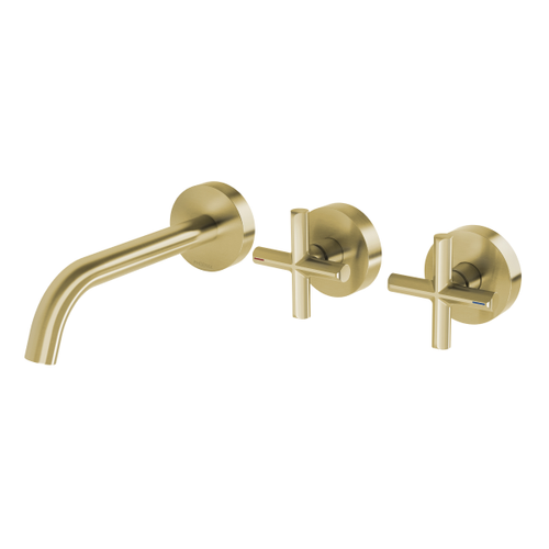 Phoenix Vivid Slimline Plus Wall Basin / Bath Hostess Set | Brushed Gold |
