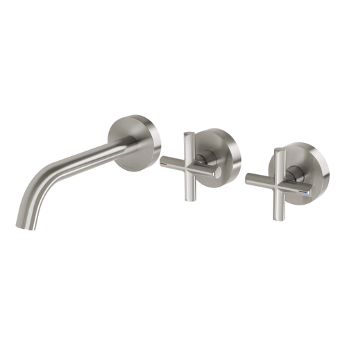 Phoenix Vivid Slimline Plus Wall Basin / Bath Hostess Set | Brushed Nickel |