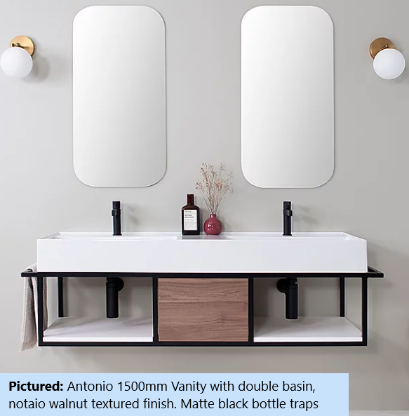 ADP Antonio Wall Hung Vanity I Custom Colour Options I 600 - 1400mm