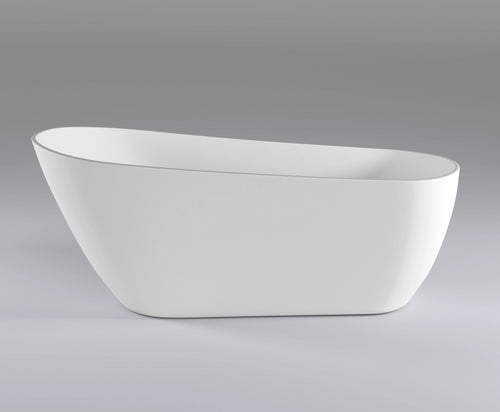 Freshwater 1700mm High Back Freestanding Bath | Gloss White |
