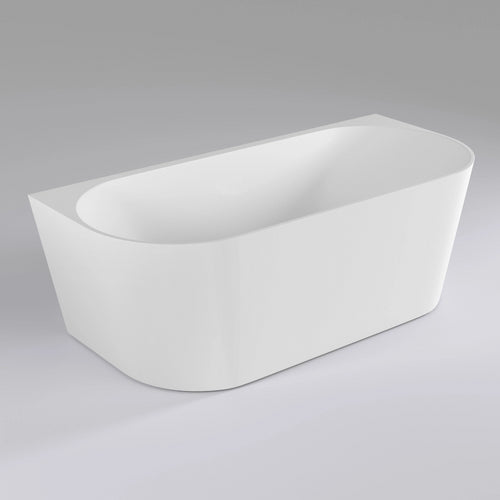 Avalon 1500mm Back to Wall Freestanding Bath | Gloss White |