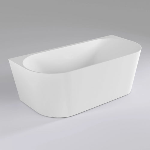 Avalon 1700mm Back to Wall Freestanding Bath | Gloss White |