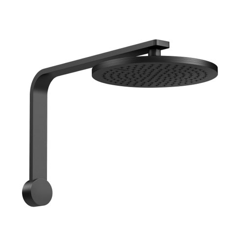 Phoenix NX Quil Shower Arm and Rain Shower Rose | Matte Black |