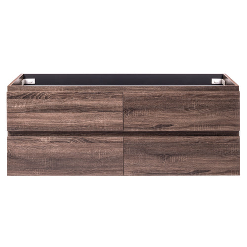 Alles Plus 1500mm Wall Hung Vanity Cabinet | Legna Noir Woodgrain |