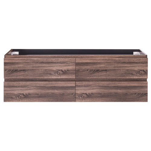Alles Plus 1800mm Wall Hung Vanity Cabinet | Legna Noir Woodgrain |