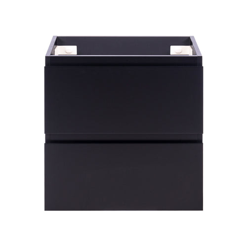 Alles Plus 600mm Wall Hung Vanity Cabinet | Satin Black |