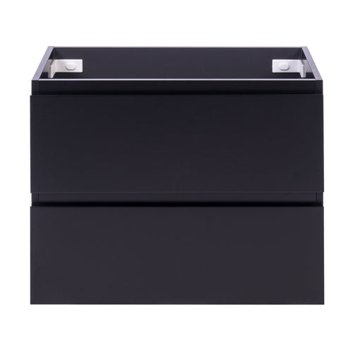 Alles Plus 750mm Wall Hung Vanity Cabinet | Satin Black |