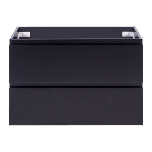 Alles Plus 900mm Wall Hung Vanity Cabinet | Satin Black |