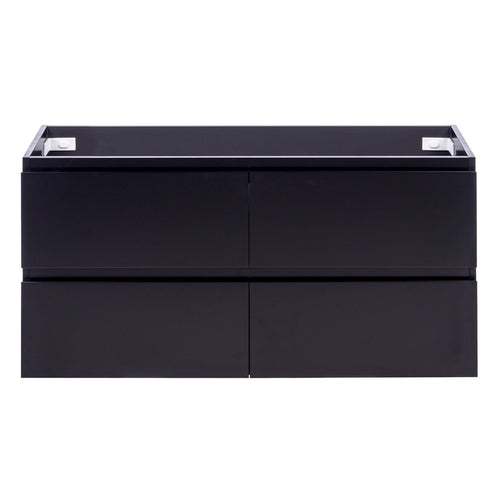 Alles Plus 1200mm Wall Hung Vanity Cabinet | Satin Black |