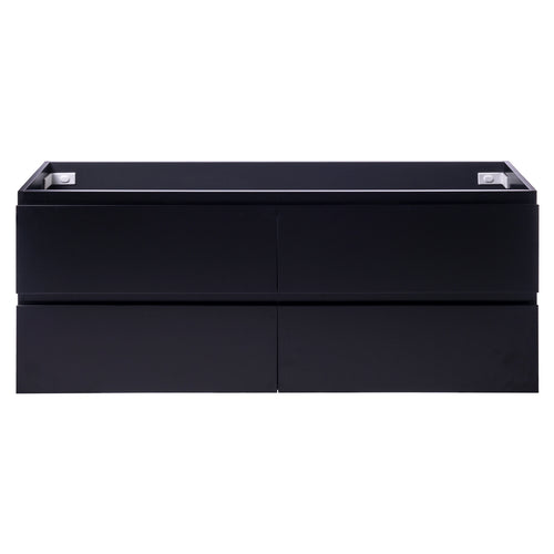 Alles Plus 1500mm Wall Hung Vanity Cabinet | Satin Black |