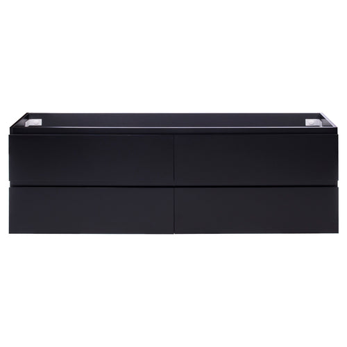 Alles Plus 1800mm Wall Hung Vanity Cabinet | Satin Black |