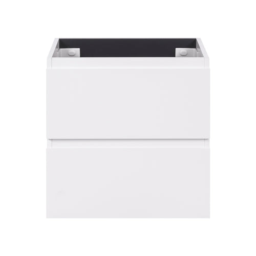 Alles Plus 600mm Wall Hung Vanity Cabinet | Satin White |