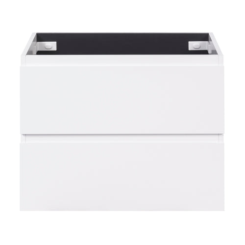 Alles Plus 750mm Wall Hung Vanity Cabinet | Satin White |