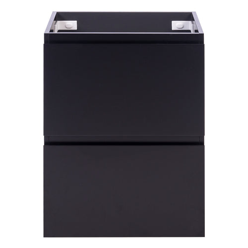 Alles Plus 600mm Floor Standing Vanity Cabinet | Satin Black |