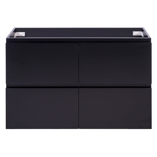 Alles Plus 1200mm Floor Standing Vanity Cabinet | Satin Black |
