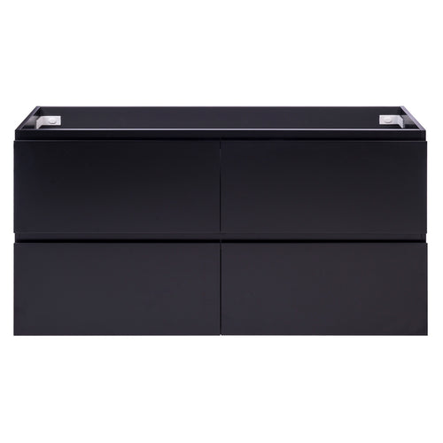 Alles Plus 1500mm Floor Standing Vanity Cabinet | Satin Black |