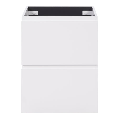 Alles Plus 600mm Floor Standing Vanity Cabinet | Satin White |