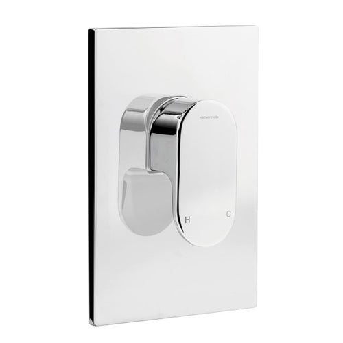 Methven Amio Shower Mixer with Metal Plate 01-4101 | Chrome |