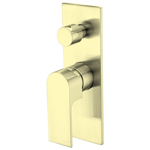 Bianca Bath Basin Wall Mixer with Diverter | Brushed Gold |