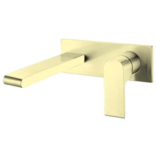 Bianca Bath Basin Wall Mounted Mixer Set 200mm Spout | Brushed Gold |