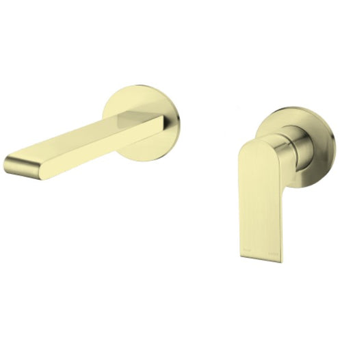 Bianca Bath Basin Wall Mounted Mixer Set no plate 200mm Spout | Brushed Gold |