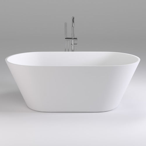 Brighton 1500mm Oval Freestanding Bath | Gloss White |