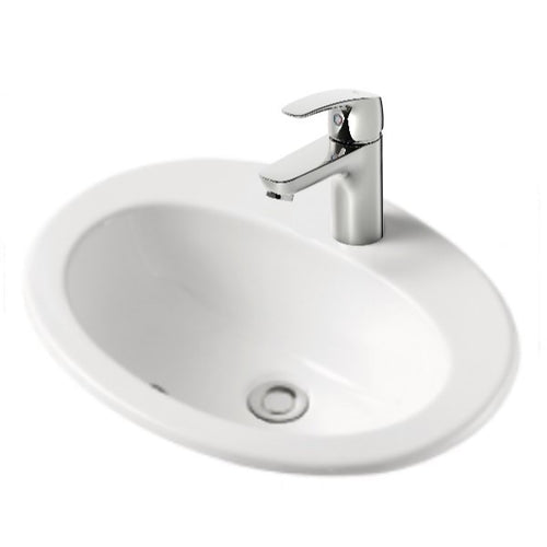 Classic Oval White Inset 500mm x 420mm Basin | Gloss |