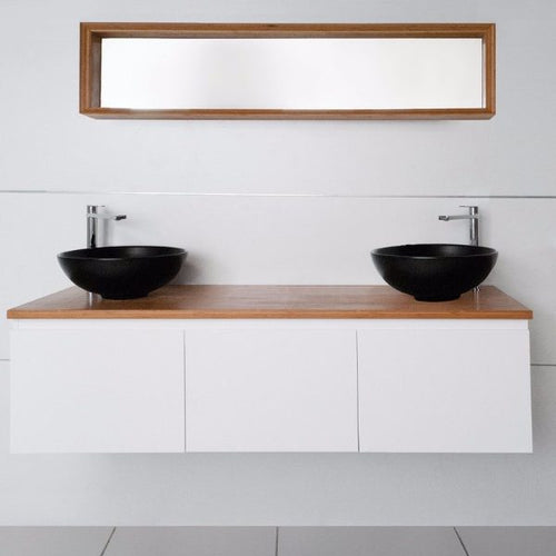 1500mm Emporia Slim Double Bowl Wall Hung Vanity Unit