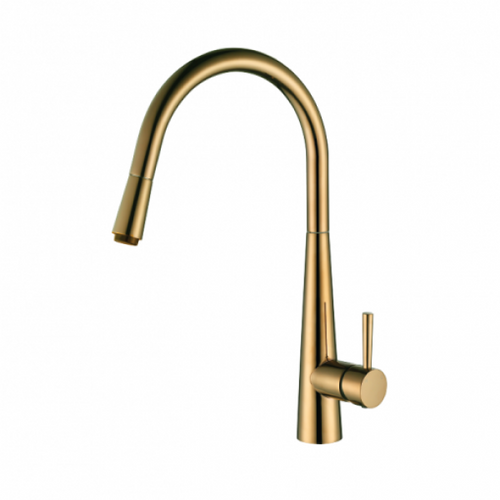 MN Pull Out Gooseneck Kitchen Mixer | Brushed Bronze |